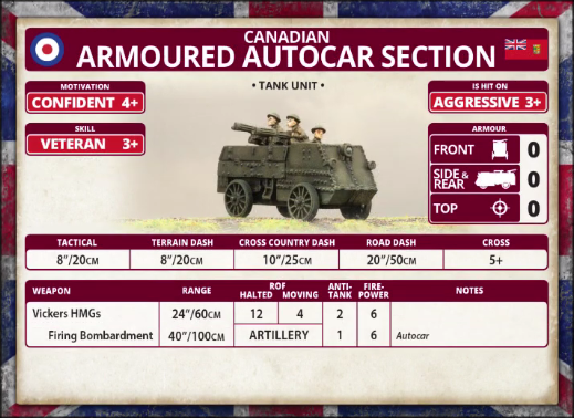 Canadian: Armoured Autocar Section