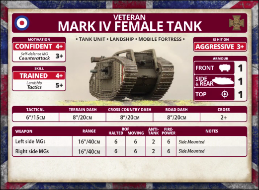 Veteran: Mark IV Female Tank