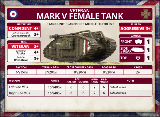 Veteran: Mark V Female Tank